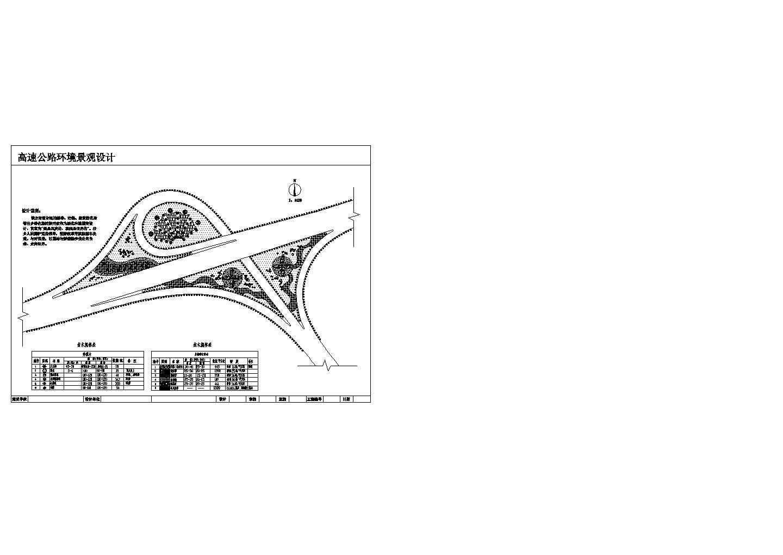 某高速公路环境景观设计施工图纸图片1