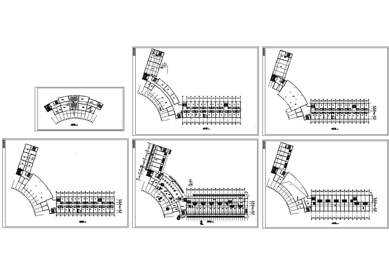 6层宾馆建筑CAD平面图图片1