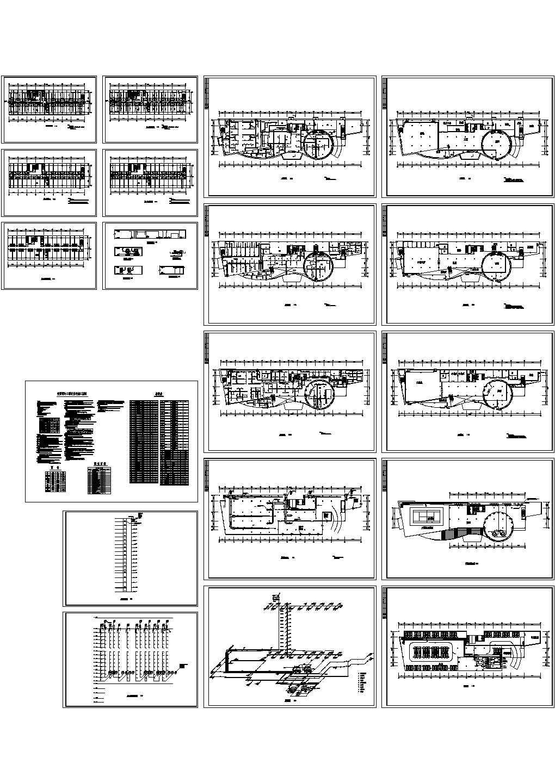 [广东]综合高层商务酒店暖通空调制冷系统设计施工图(含供热部分设计)某酒店空调系统图图片1