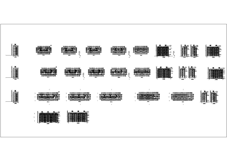 3栋小高层住宅建筑施工扩初设计图图片1