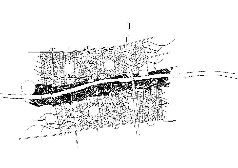河道两侧的园林设计图图片1