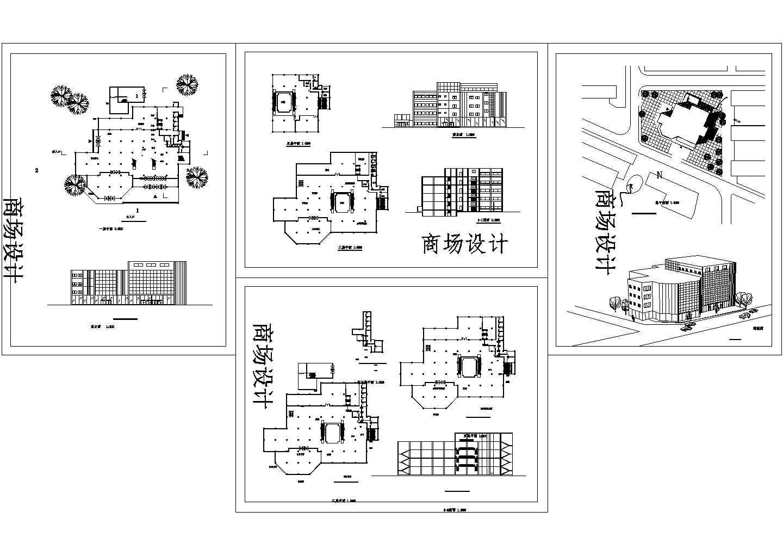 某五层商场设计方案施工图图片1