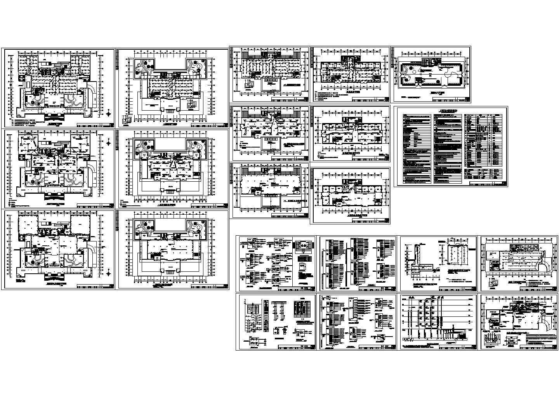 北京某图书馆电气施工CAD图图片1