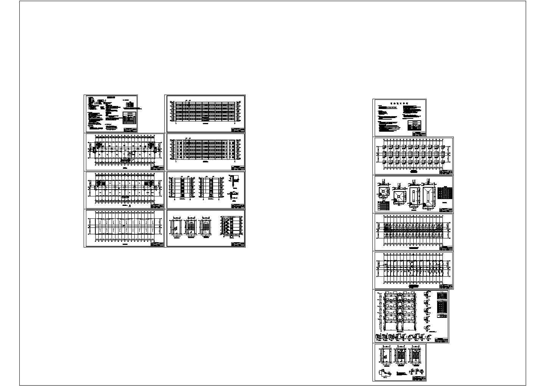 某5400�O地上五层中学教学楼建筑结构毕业设计CAD图纸图片1