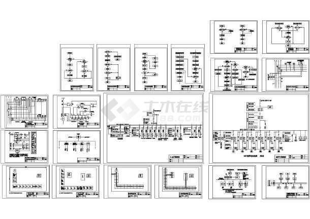某排涝闸站电气设计图-图一