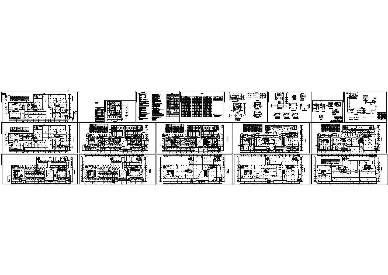 商业广场商住楼空调通风防排烟系统设计施工图(中央集中式空调)图片1