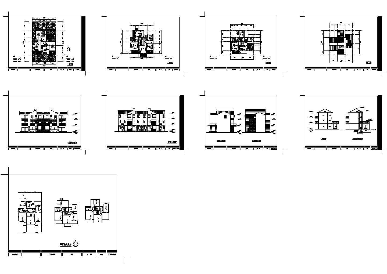 某乡镇经典农宅建筑设计方案图纸图片1