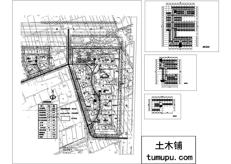 多层小区地下车库平面建施cad图,共四张图片1