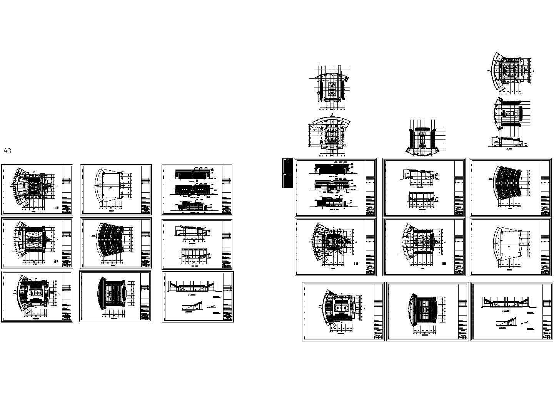 4499平米2层中学校体育馆建筑扩初图,含设计说明图片1