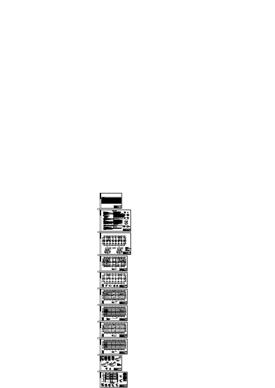 2946.69平米三层框架结构综合楼施工cad图,共十一张图片1