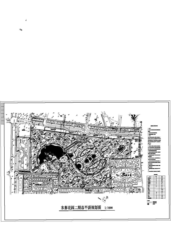 规划总用地218080平米东泰花园二期总平面规划图图片1