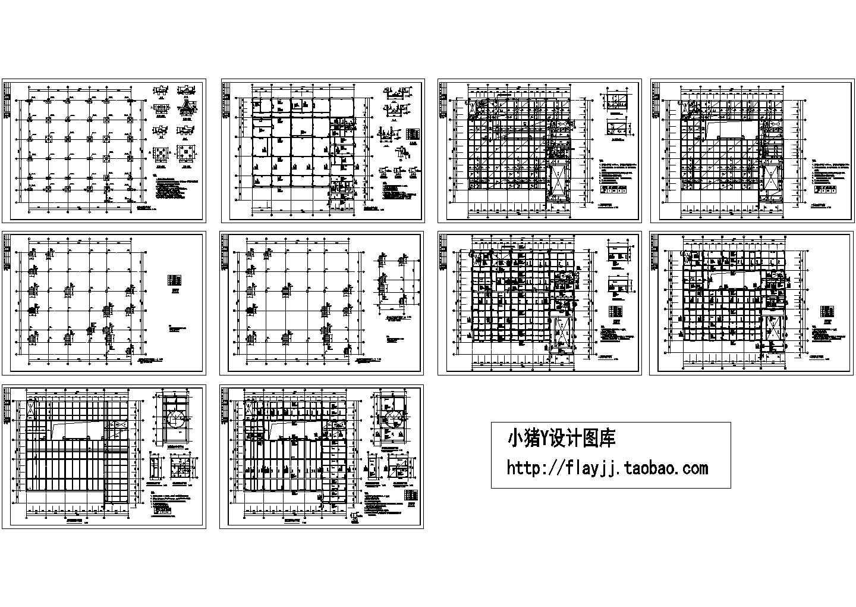 某地区3层框架办公楼结构CAD设计平面图(设计说明)图片1