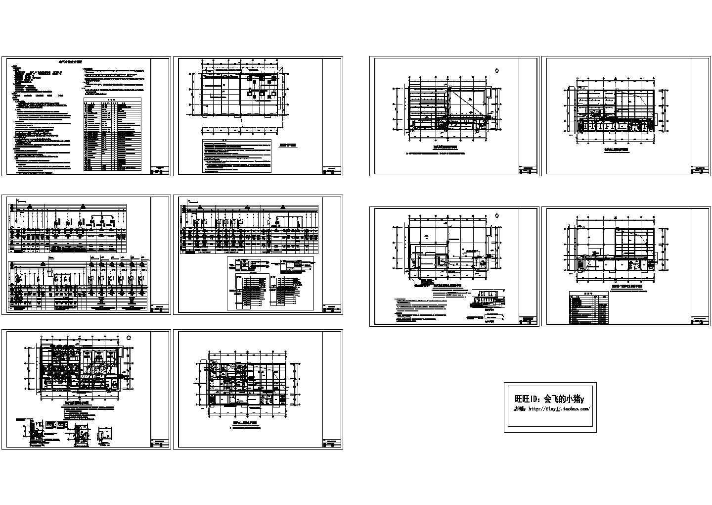 1310平米2层住宅小区配套锅炉房工程建施cad图,共十张图片1