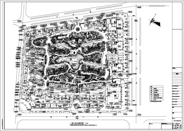 小区园林照明设计平面cad图图片1