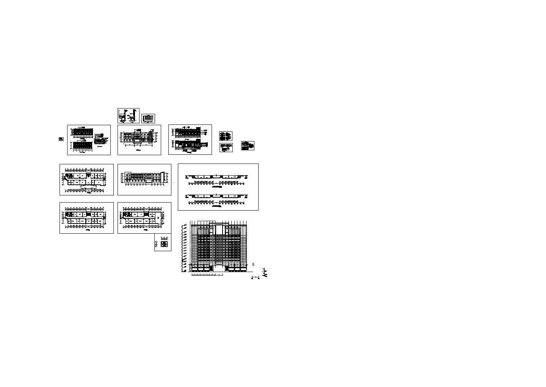 化工厂办公楼餐厅装修设计建施cad图纸图片1