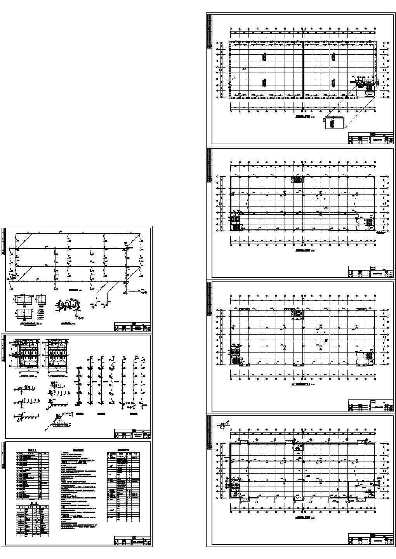 某多层电子厂房给排水平面图图片1