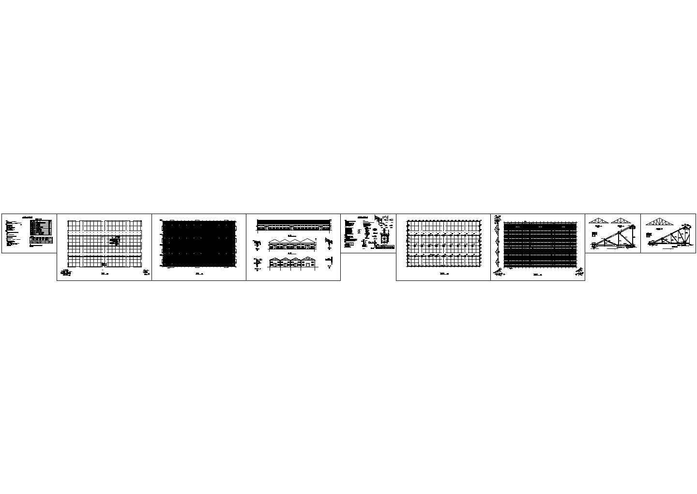 经典木结构厂房建筑结构施工图(总建筑面积3893平方米)图片1