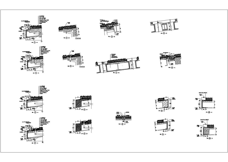 某屋顶绿化深化设计节点图cad图纸图片1