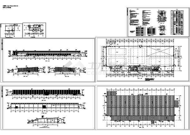 长135米 宽49米 1层6834.4平米钢结构高强度坚固件生产厂房建筑施工图-图一