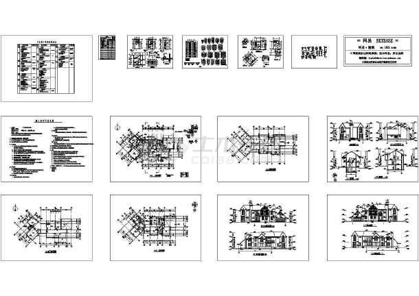 某多层别墅全套建筑施工图,22张图纸-图一