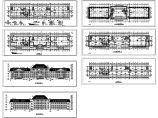 多层办公楼建施工设计cad图,共7张图片1