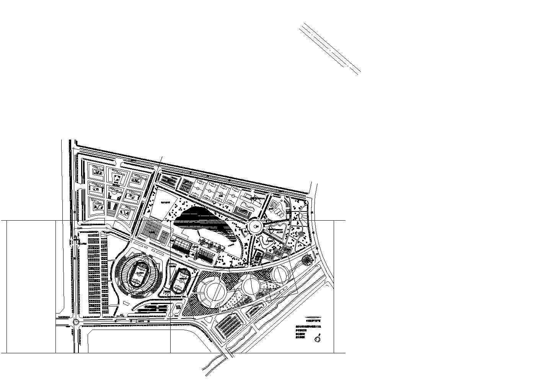 烟台市体育公园体育馆设计方案总平面图片1
