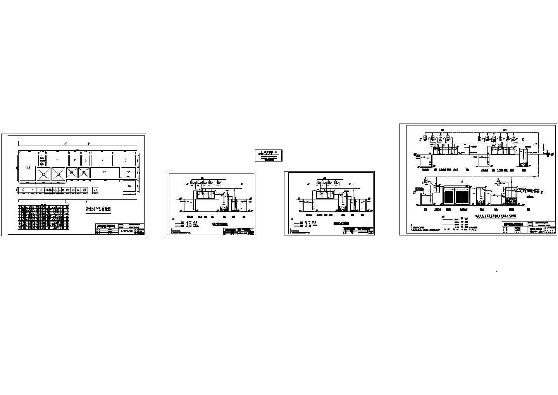 某线路板厂生产废水处理工艺流程设计cad施工图(大院设计)图片1