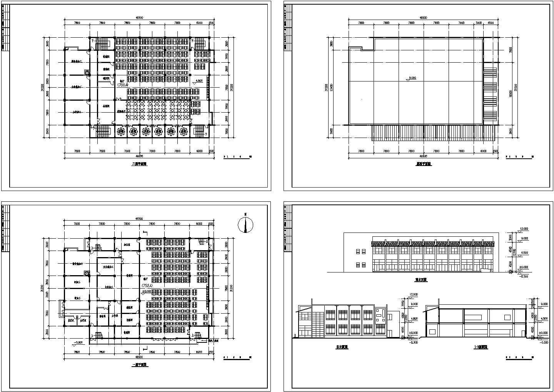 食堂建筑设计方案图图片1