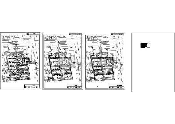 小区外网给排水消防综合管道设计建施cad图,共四张-图一