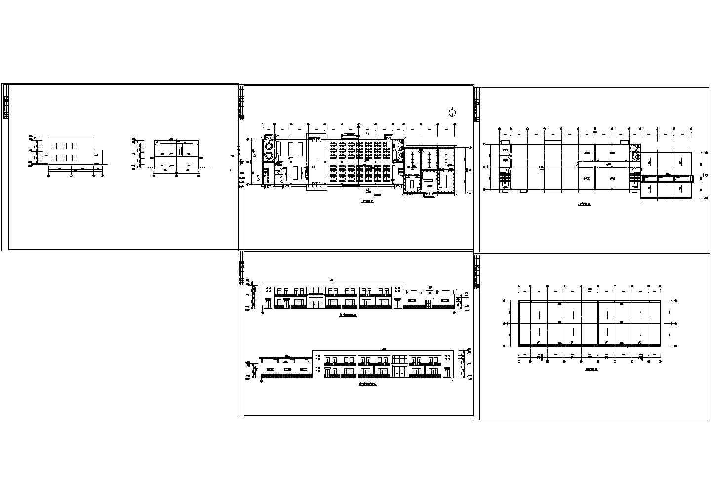 某四层食堂浴室建筑设计方案图图片1