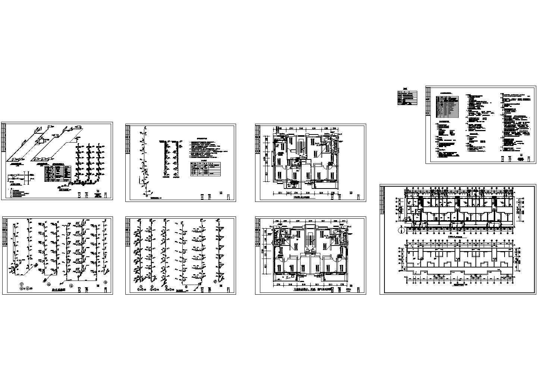 某地长57.14米 宽12.3米 -1+6层住宅给排水设计CAD图图片1