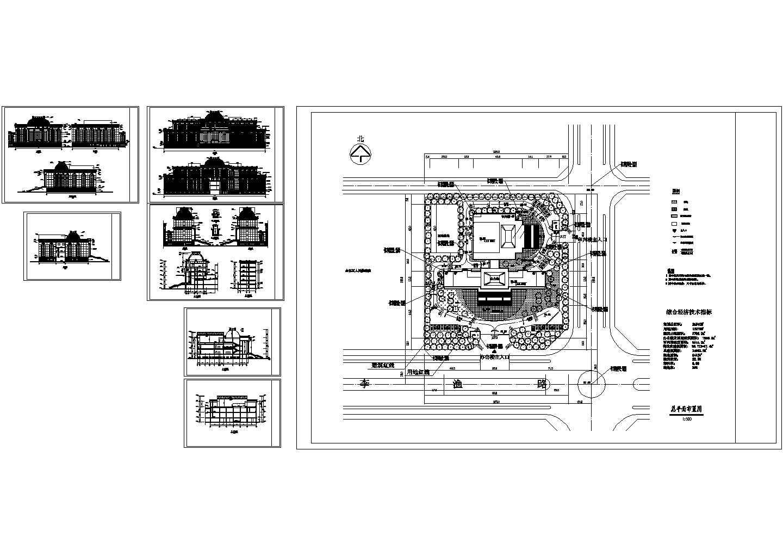 某法院建筑立面图,含设计说明图片1