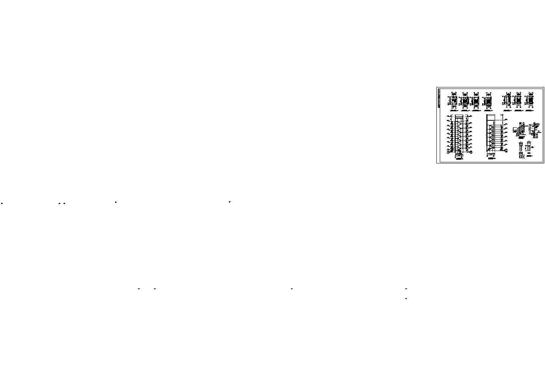 办公楼楼梯平面剖面栏杆大样施工cad图,共十二张图片1