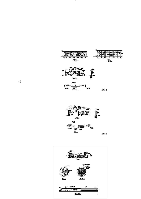 最新整理的景墙施工cad设计图图片1