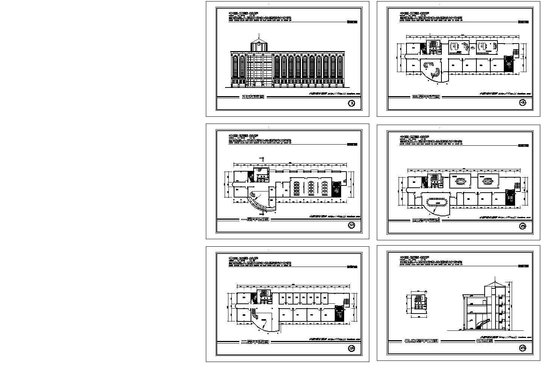 4层欧式县人民政府办公楼建筑设计方案图图片1