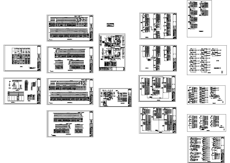 高档住宅配电系统设计cad图,共十七张图片1