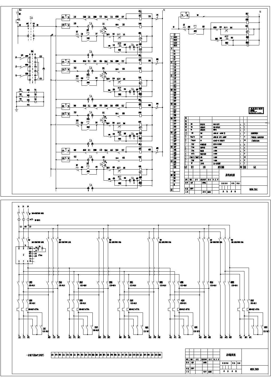 CAD设计恒压供水系统接线原理图图片1