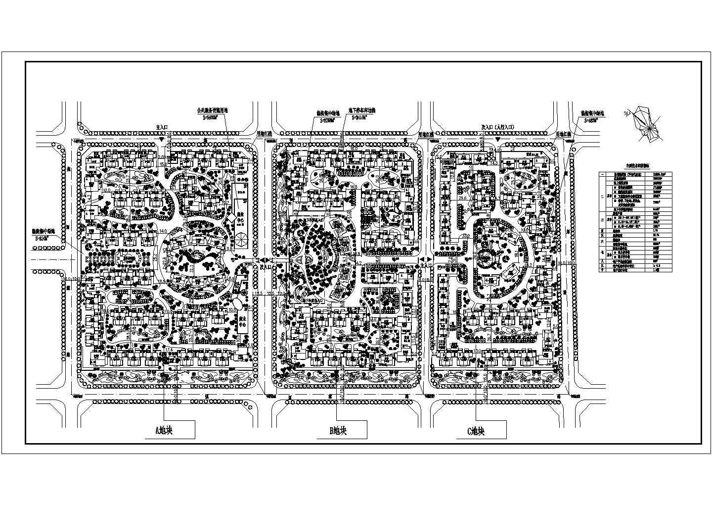 某住宅小区总平面投标方案图图片1