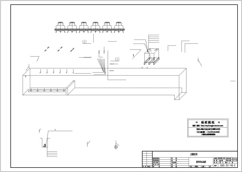 铸造车间循环水泵房设计建施cad图纸图片1