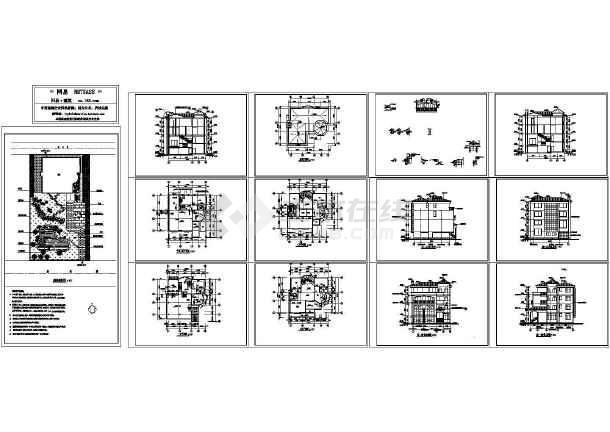 某多层别墅建筑施工图,12张图纸-图一