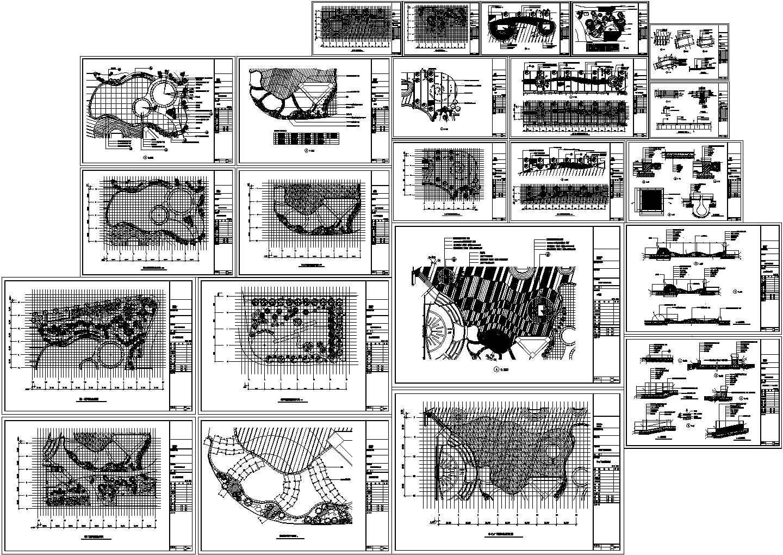 某广场景观设计施工方案图纸图片1