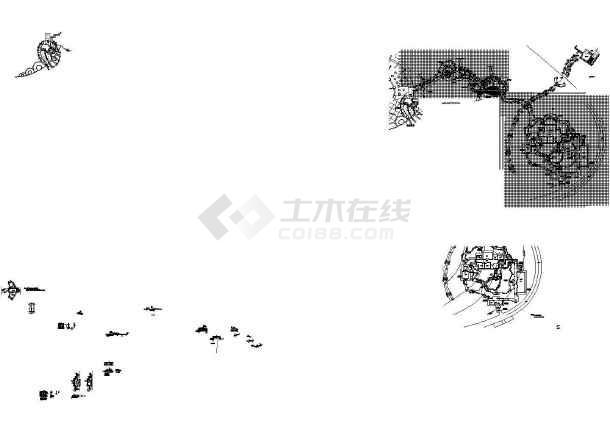 彩田公园园林环境设计施工CAD图-图一