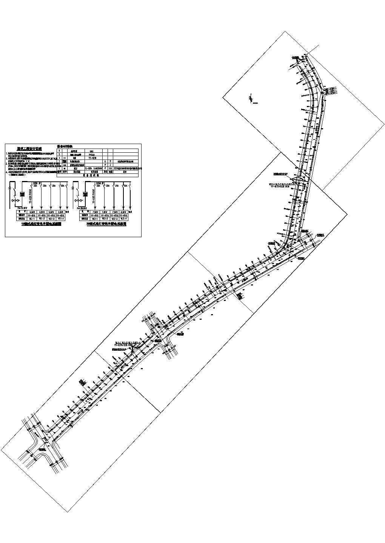 五道路照明电气设计CAD平面图及系统图图片1