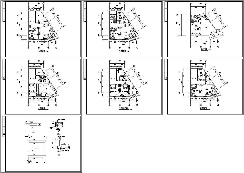 长13.45米宽10米8层酒店建筑平面设计方案图图片1