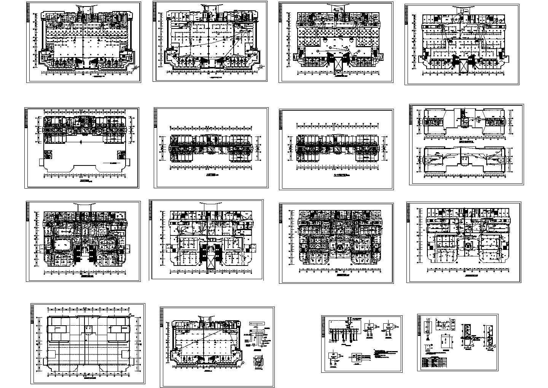 某五星级酒店电气设计平面图图片1