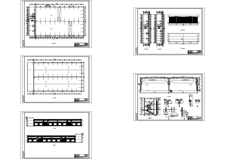 门式刚架轻型钢结构工业厂房设计图纸图片1