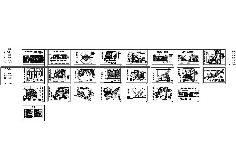 精选常用广场景观园林设计节点CAD图纸集合图片1