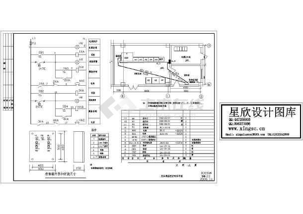 变压器信号箱原理接线CAD图-图一