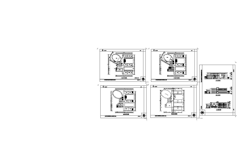 长沙某小学建筑设计方案图图片1