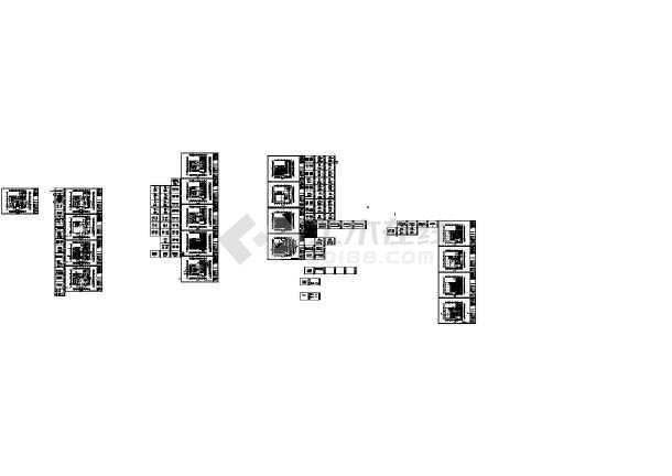 福州四星级国际大酒店装修设计CAD图-图一
